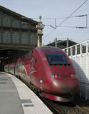 Thalys铁路 库存照片