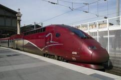 Thalys高速火车 免版税图库摄影