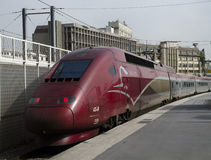 Thalys-Hochgeschwindigkeitszug Lizenzfreies Stockbild