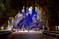 Tham Khao Luang Cavein Phetchaburi Tailandia Fotografie Stock Libere da Diritti