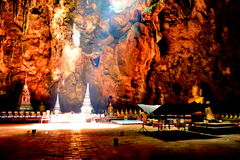 Tham Khao Luang Cave in Pechburi Thailand. Muang. Phetchaburi on his capital. From his palace around five kilometers from the foot of the concrete stairs Royalty Free Stock Image