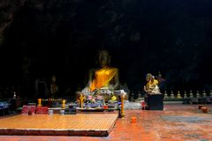 Tham Khao Luang Cave, Phetchaburi Province, Thailand. Of all the caves in Phetchaburi province, Khao Luang is the most important and best visited, because of the stock image