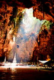 Tham Khao Luang grotta i Pechburi Thailand Arkivfoto