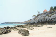 Tham Khao Phang beach. At Sichang Island , Sri racha, Thailand royalty free stock photo