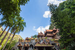 Tham khao wong temple. Beautiful temple located in the middle of the beautiful nature. Uthai Thani, Thailand Royalty Free Stock Image