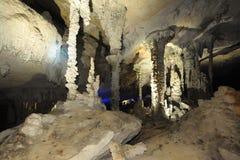Tham Kong Lo cave. On Laos Royalty Free Stock Image