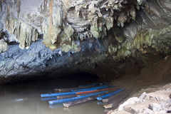 Tham Kong Lo cave Stock Photo
