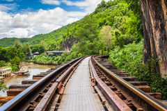 Tham krasae bridge. Royalty Free Stock Photo