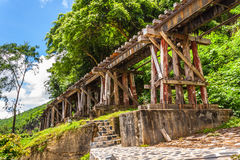 Tham krasae bridge. Royalty Free Stock Photo