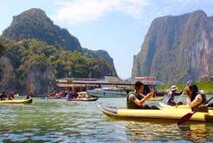 Tham Lod, Phang Nga, Таиланд Стоковые Фото