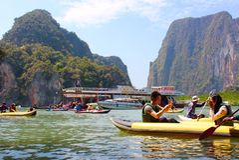 Tham Lod, Phang-nga, Thailand Stock Foto's