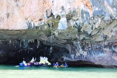 Tham Lod, Phang nga, Thailand Royalty Free Stock Photos