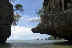 Tham Lod Yai στο AO Phang Nga, Ταϊλάνδη Στοκ φωτογραφία με δικαίωμα ελεύθερης χρήσης