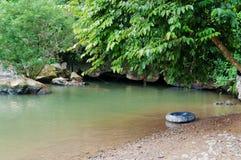 Tham Nam (Water Cave). Vang Vieng. Laos. Tham Nam (Water Cave) for cave tubing. Vang Vieng. Laos Royalty Free Stock Images