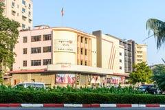 ` Thamada `戏院,一著名戏院在仰光,缅甸, 2月2018 免版税图库摄影