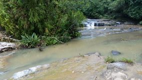 Thambagalla埃拉瀑布斯里兰卡 免版税库存照片