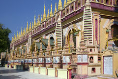 Thambuddhei Paya - Monywa - il Myanmar Fotografia Stock Libera da Diritti