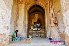 Thambula Temple in Bagan, Myanmar. Buddha statue in Thambula Temple, Bagan, Myanmar. Bagan is an ancient city located in the Mandalay Region of Myanmar . From Royalty Free Stock Photos
