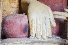Thambula Temple in Bagan, Myanmar. Right hand of Buddha statue in Thambula Temple, Bagan, Myanmar. Bagan is an ancient city located in the Mandalay Region of Stock Photography