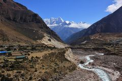 Thame valley, Everest National Park, Nepal. Bhote Kosi, river in the Thame valley, Everest National Park, Nepal Royalty Free Stock Photos