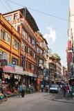 Thamel in Kathmandu Stock Photography
