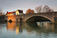 Thames in Abingdon near Oxford, UK. Royalty Free Stock Images