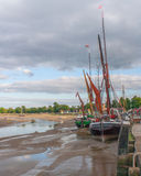 Maldon Essex UK Thames Barge. England, Essex, Maldon, Thames Barge at rest in estuary Royalty Free Stock Photos