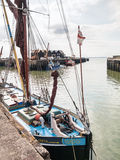 Thames Barge in Whitstable Harbour Stock Image