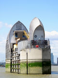Thames Barrier. The Thames Barrier built between 1974-82 is the world's second largest flood control barrier Royalty Free Stock Images