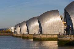 The thames barrier. A view of the thames barrier Stock Image