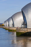 Thames barrier. A view of the thames barrier from charlton in london Royalty Free Stock Photos