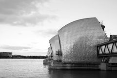Thames barrier. Tidal protector, is the world's second largest movable flood barrier Royalty Free Stock Images