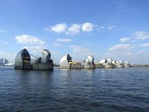 The Thames Barrier 4. An image of the tidal protector the Thames Barrier that protects London from environmental flooding stock photography