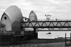 The Thames Barrier from Greenwich Royalty Free Stock Image