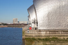 Thames Barrier, London. The Thames Barrier is a movable flood barrier in the River Thames east of Central London Stock Photography