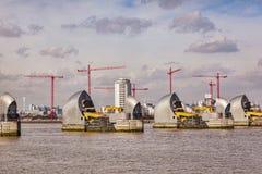 Thames Barrier London UK stock photo
