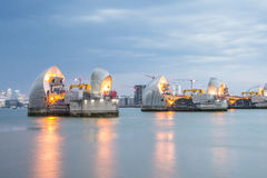 Thames Barrier London. Thames Barrier is the world's second largest movable flood barrier, located downstream of central London in the area of Silvertown Royalty Free Stock Photos