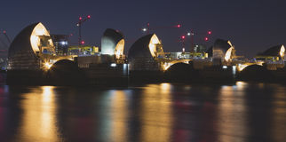 Thames Barrier by night Stock Photos