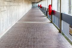Thames Barrier passageway in London Royalty Free Stock Image