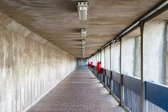 Thames Barrier passageway in London. Part of the Thames Path national trail Royalty Free Stock Image