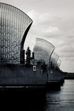 Thames Barrier on the River Thames, Greenwich Peninsula, London Stock Photography