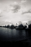 Thames Barrier on the River Thames, Greenwich Peninsula, London Royalty Free Stock Photo