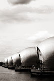 Thames Barrier on the River Thames, Greenwich Peninsula, London Stock Images