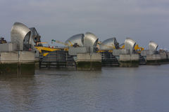 Thames Barrier. River Thames, Woolwich, London Stock Photo