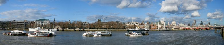 Thames boats Royalty Free Stock Images