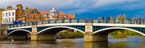 Thames bridge Windsor. Bridge over River Thames connecting Windsor and Eton, England royalty free stock image