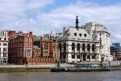 Thames brzeg rzeki mieszkania Zdjęcie Stock