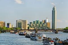 Thames bulwar Zdjęcia Stock