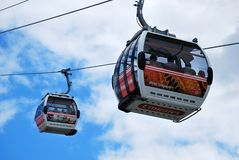 Thames Cable Car Emirates Air Line Royalty Free Stock Photo