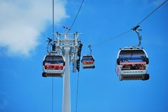 Thames Cable Car Gondolas and Tower Royalty Free Stock Image